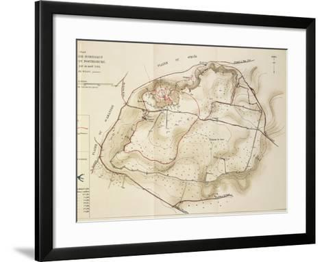 Map of Troy, Acropolis of Second City, 1882--Framed Art Print