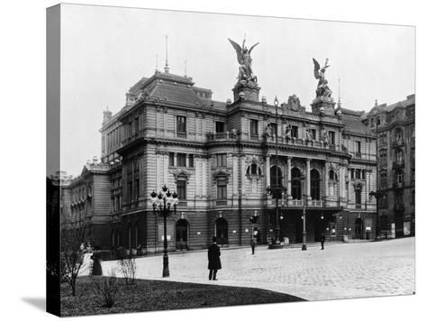 Na Vinohradech Theatre, Prague, C.1920--Stretched Canvas Print