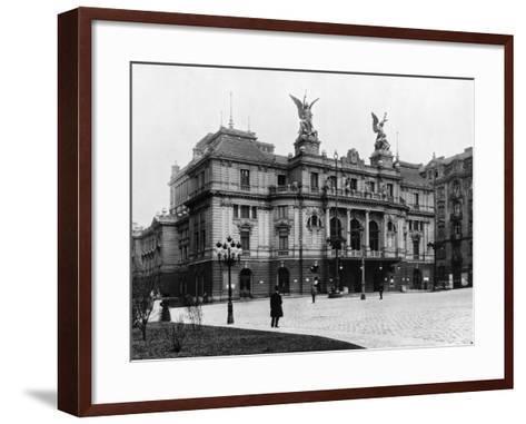 Na Vinohradech Theatre, Prague, C.1920--Framed Art Print