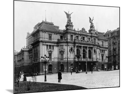 Na Vinohradech Theatre, Prague, C.1920--Mounted Photographic Print
