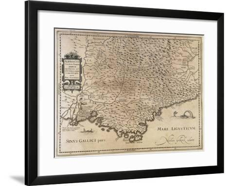 Cottian and Maritime Alps--Framed Art Print