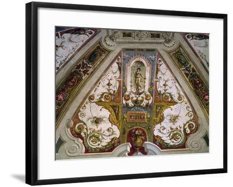 Detail from Hall of Fishing of Villa Lante, Bagnaia, Italy, 16th Century--Framed Art Print