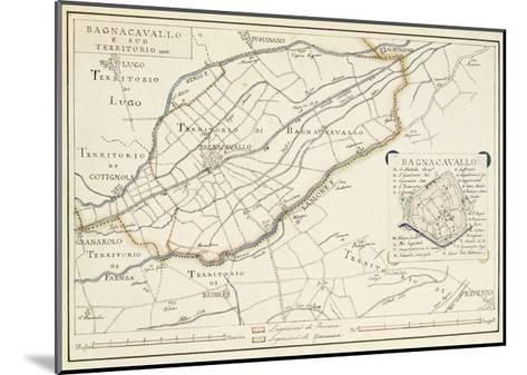 Map of Bagnocavallo, Province of Ravenna, Italy, 1850--Mounted Giclee Print