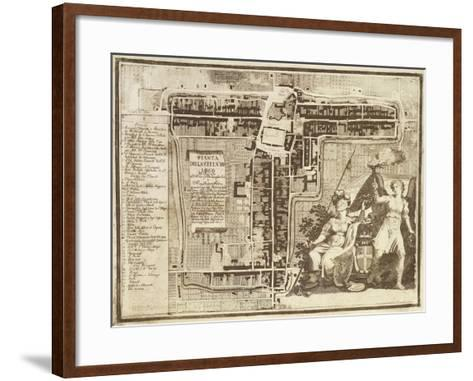 Map of Lugo, Province of Ravenna, Italy, 1823--Framed Art Print