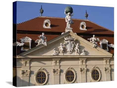 Detail of Riegersburg's Façade--Stretched Canvas Print
