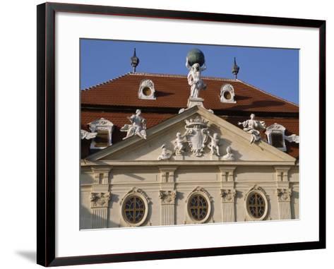 Detail of Riegersburg's Façade--Framed Art Print