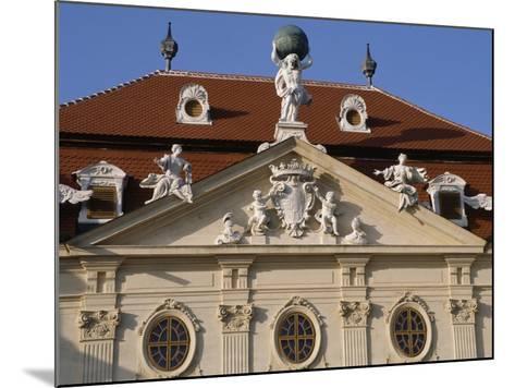 Detail of Riegersburg's Façade--Mounted Giclee Print