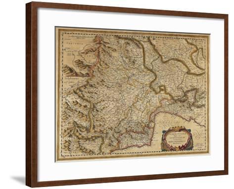 Piedmont, Monferrato and Liguria Regions, Map by Gerhard Kremer, from Regionum Italiae--Framed Art Print