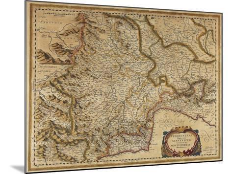 Piedmont, Monferrato and Liguria Regions, Map by Gerhard Kremer, from Regionum Italiae--Mounted Giclee Print