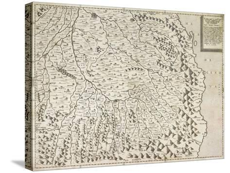 Map of Piedmont Region, Venice, 1567--Stretched Canvas Print