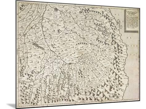 Map of Piedmont Region, Venice, 1567--Mounted Giclee Print