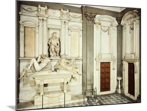 Medici Tombs, 16th Century, New Sacristy, Basilica of St Lawrence, Florence, Italy, 16th Century--Mounted Giclee Print