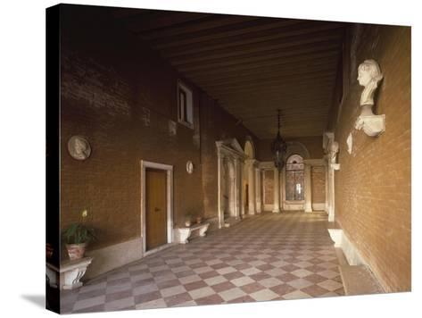 Atrium, Palazzo Corner Spinelli, Work by Michele Sammicheli, Venice, Italy, 15th-16th Century--Stretched Canvas Print