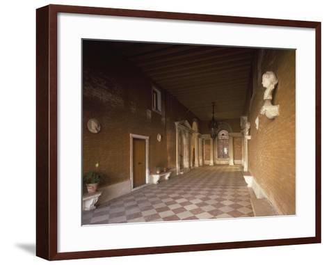Atrium, Palazzo Corner Spinelli, Work by Michele Sammicheli, Venice, Italy, 15th-16th Century--Framed Art Print