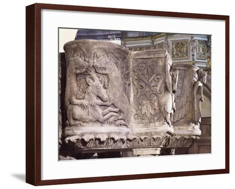 Detail from 11th Century Ambo--Framed Art Print