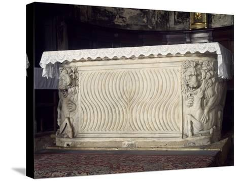 Altar, St Ercolano Church, Perugia, Umbria, Italy--Stretched Canvas Print