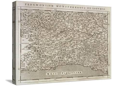 Piedmont, Monferrato and Liguria Region, from Descrittione Della Regione Piemontese--Stretched Canvas Print