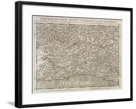 Piedmont, Monferrato and Liguria Region, from Descrittione Della Regione Piemontese--Framed Art Print
