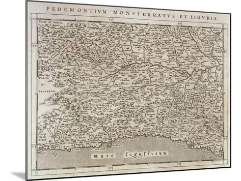 Piedmont, Monferrato and Liguria Region, from Descrittione Della Regione Piemontese--Mounted Giclee Print