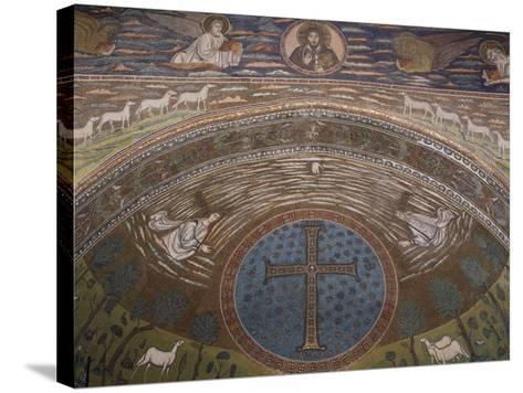 Apsidal Semi-Dome Decorated with Mosaics in the Basilica of St Apollinaris in Classe--Stretched Canvas Print