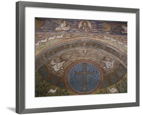 Apsidal Semi-Dome Decorated with Mosaics in the Basilica of St Apollinaris in Classe--Framed Art Print