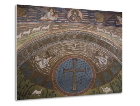 Apsidal Semi-Dome Decorated with Mosaics in the Basilica of St Apollinaris in Classe--Metal Print