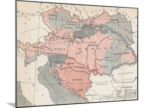 Map of Austria-Hungary in 1878--Mounted Giclee Print