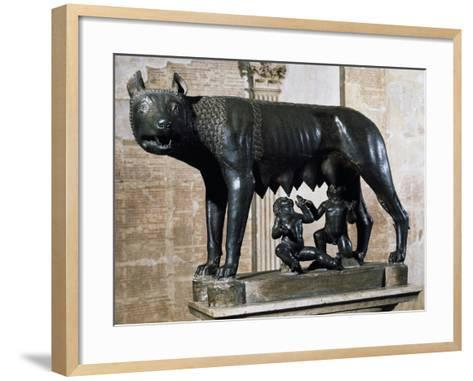Capitoline Wolf, Bronze Sculpture from Veii--Framed Art Print