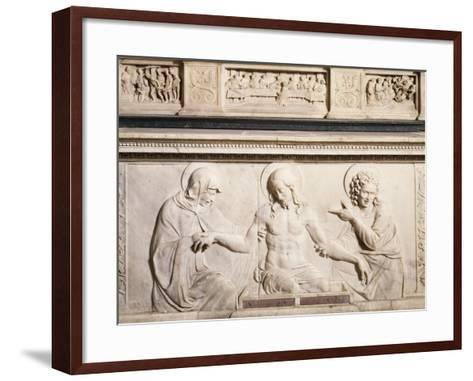 Detail from Bas-Relief from Altar--Framed Art Print