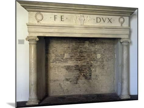 Fireplace, Detail from Throne Room, Ducal Palace, Urbino--Mounted Photographic Print