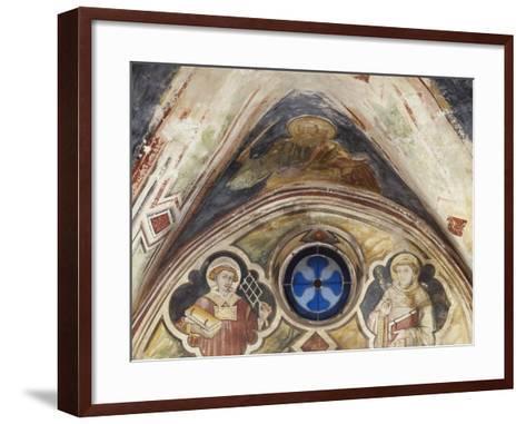Figures of Saints in Sacro Speco Monastery, Subiaco, Italy, 14th-15th Century--Framed Art Print