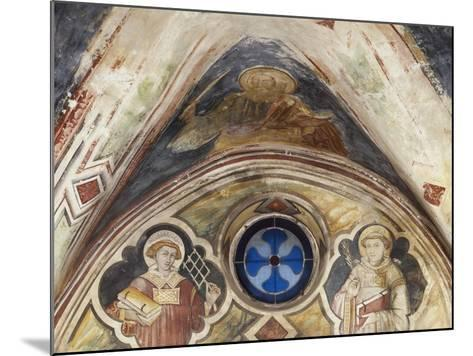 Figures of Saints in Sacro Speco Monastery, Subiaco, Italy, 14th-15th Century--Mounted Giclee Print