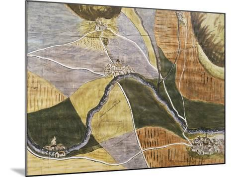 Map of Domremy-La-Pucelle Area in France, Birthplace of Joan of Arc--Mounted Giclee Print