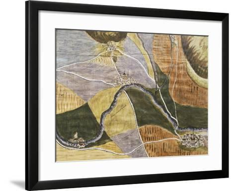 Map of Domremy-La-Pucelle Area in France, Birthplace of Joan of Arc--Framed Art Print