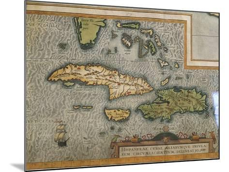 Map of Antilles Islands--Mounted Giclee Print
