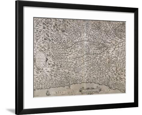 Lombardy and Piedmont Regions, Map--Framed Art Print
