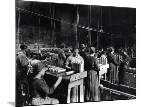 Women Polishing Shells in the Gillet Arms Factory in Lyon, 2nd July 1917--Mounted Photographic Print