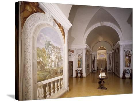 Glimpse of Cruciform Hall with Frescoes--Stretched Canvas Print