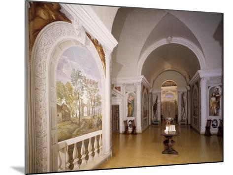 Glimpse of Cruciform Hall with Frescoes--Mounted Giclee Print