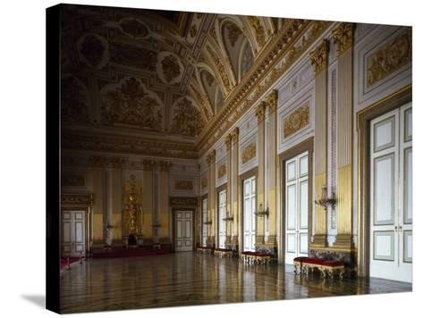 Throne Room, Interior of Royal Palace of Caserta--Stretched Canvas Print