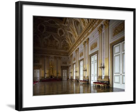 Throne Room, Interior of Royal Palace of Caserta--Framed Art Print