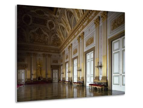 Throne Room, Interior of Royal Palace of Caserta--Metal Print
