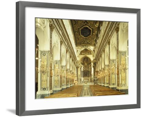 Central Nave, Amalfi Cathedral, Campania, Italy, 9th-16th Century--Framed Art Print