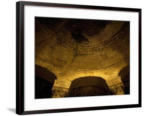 View of Apse of Paleochristian Basilica, Church of San Giorgio Maggiore, Naples, Campania, Italy--Framed Art Print