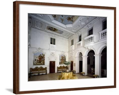 Glimpse of Central Hall from Main Floor--Framed Art Print