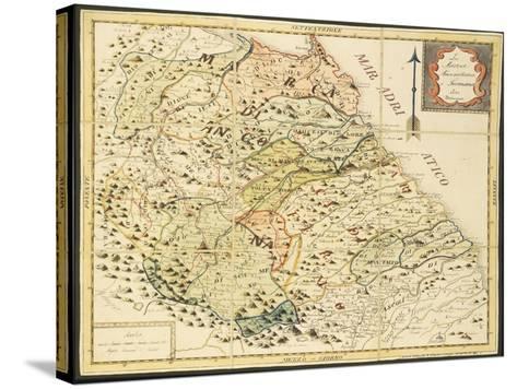 Map of Marca Anconetana and Fermana, Bologna, Italy, 1831--Stretched Canvas Print