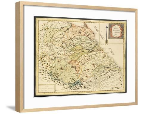 Map of Marca Anconetana and Fermana, Bologna, Italy, 1831--Framed Art Print