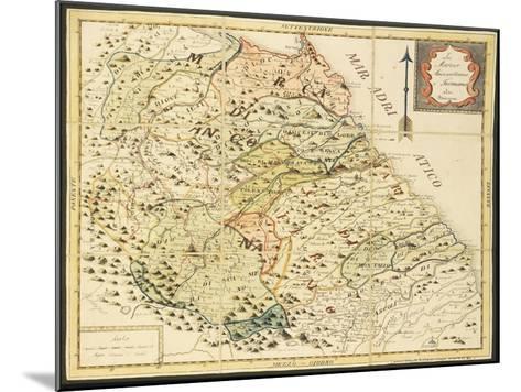 Map of Marca Anconetana and Fermana, Bologna, Italy, 1831--Mounted Giclee Print