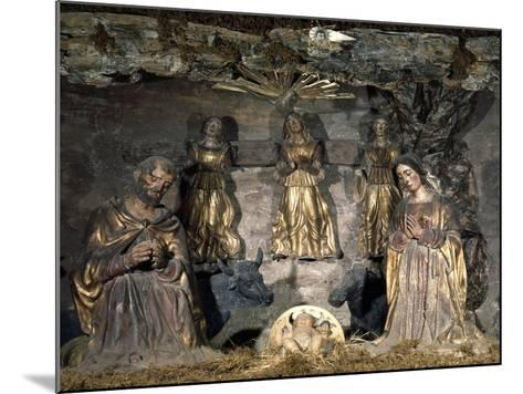 Nativity, 16th Century, Nativity Scene with Polychrome Terracotta Figurines by Potters from Abruzzi--Mounted Giclee Print