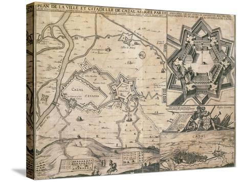 Map of Casale Monferrato, Piedmont Region, and its Citadel During the Siege in 1630--Stretched Canvas Print